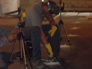 concrete grouting