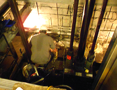 elevator-pit-chemical-grouting